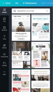 template newsletter Canva