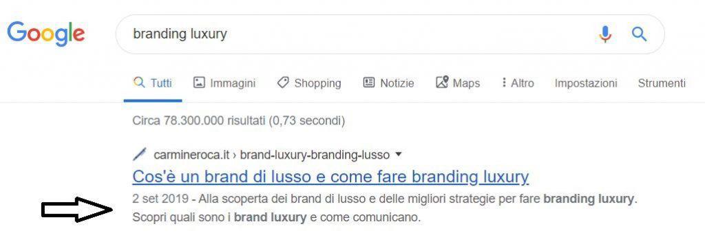 esempio tag description google