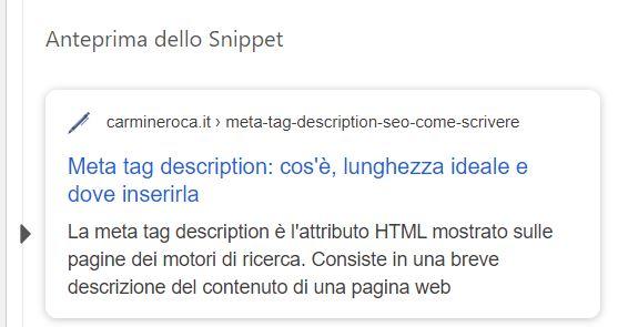 meta description wordpress serp