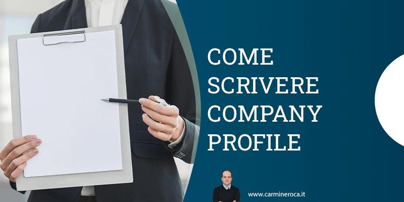 come scrivere company profile