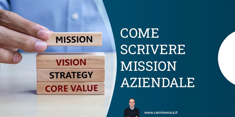 come scrivere mission aziendale