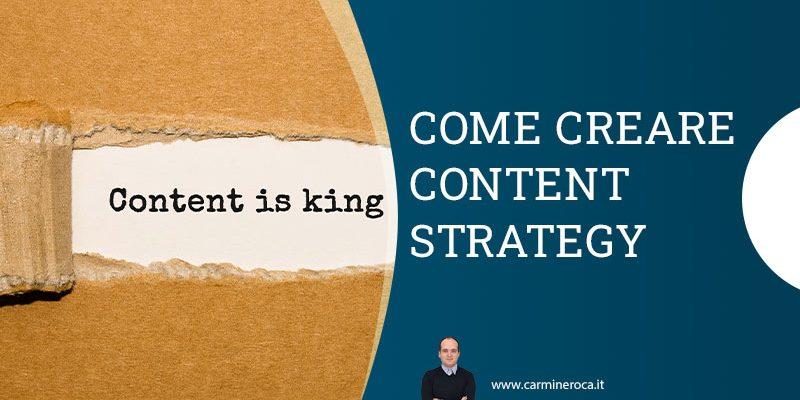 Content strategy significato esempi